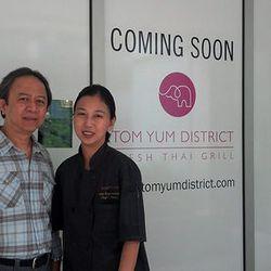 Tom Yum District owners Mel Oursinsiri and Aulie Bunyaratapan.