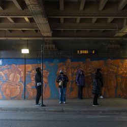 Near the Lawrence Red line Station in Uptown. | Tyler LaRiviere/Sun-Times