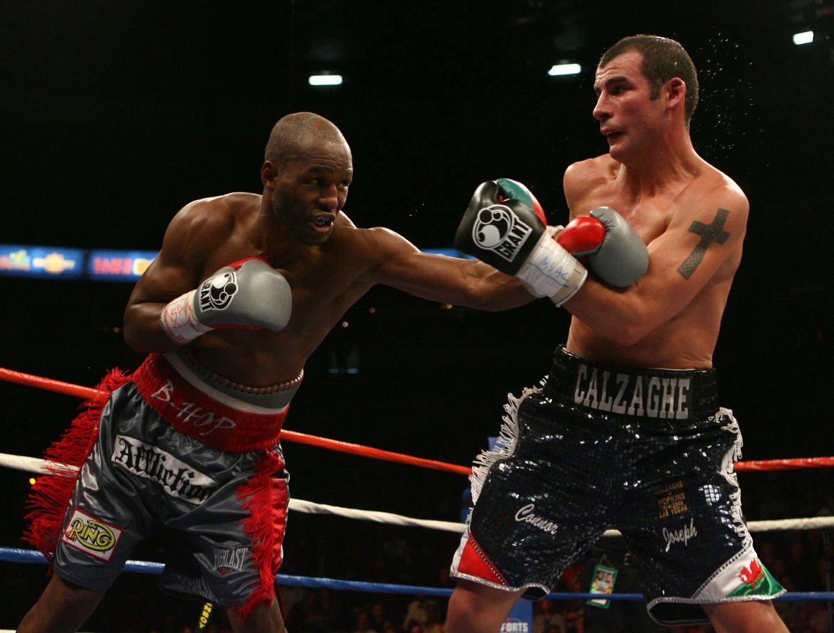 Boxing - Light-Heavyweight Title - Joe Calzaghe v Bernard Hopkins - Thomas & Mack Center - Las Vegas