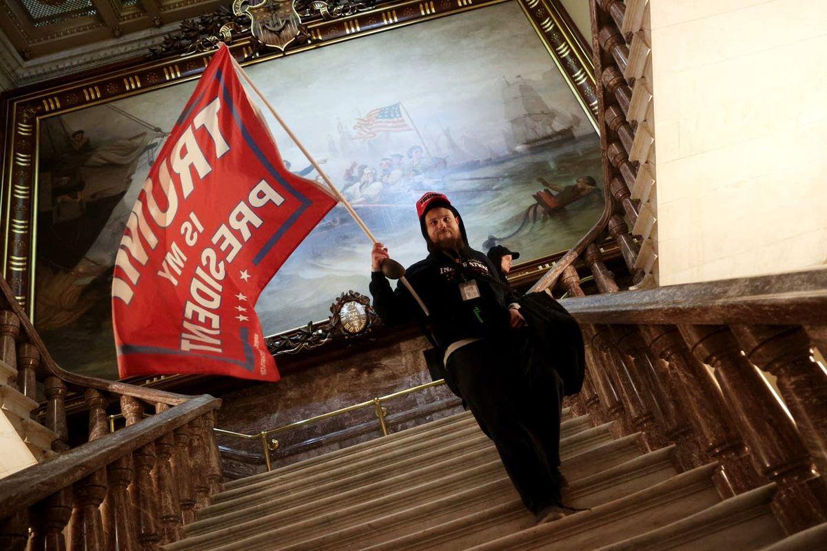 Trump supporter at U.S. Capitol