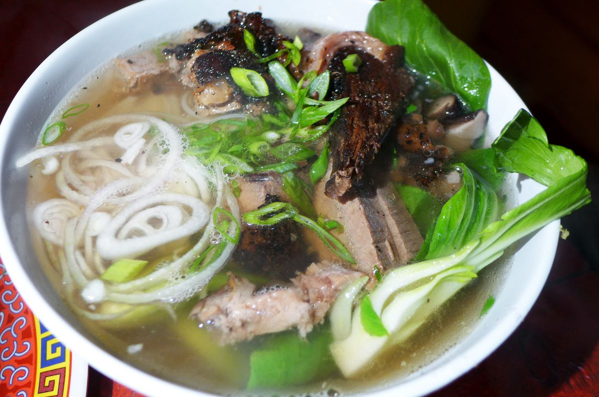 Brisket pho at Lucy's