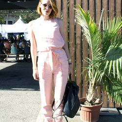 Ali Lovell looked pretty in pink.