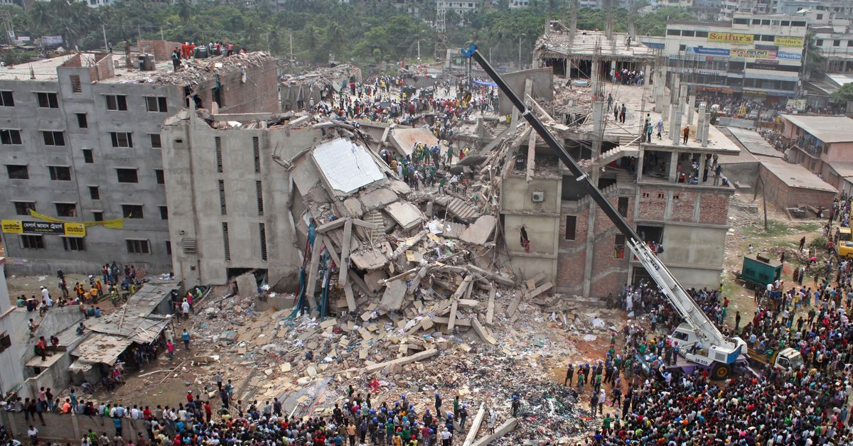 Image result for sweatshop factory collapse