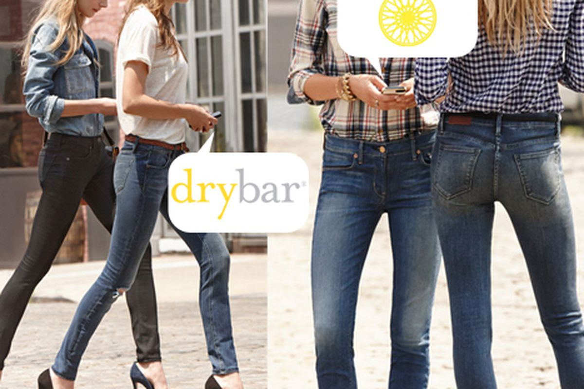 """Image courtesy Madewell and via <a href=""""http://ny.racked.com/archives/2013/08/12/madewell_drybar_soulcycle_free_jeans_discounted_blowouts.php"""">Racked NY</a>."""