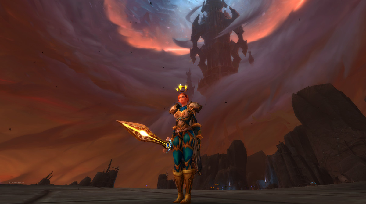 World of Warcraft - a player stands outside Torghast in The Maw