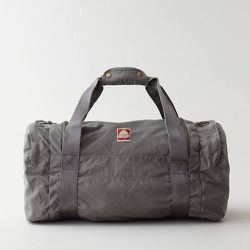 """<strong>Jansport Heritage</strong> Hipster Nylon Duffle Bag in Storm Grey , <a href=""""http://www.stevenalan.com/103408.html#cgid=mens-shoes-and-accessories-bags-slg&start=0&frmt=ajax&view=all&sz=12&srule=Low-to-High&start=0&hitcount=82"""">$75</a> at Steven A"""