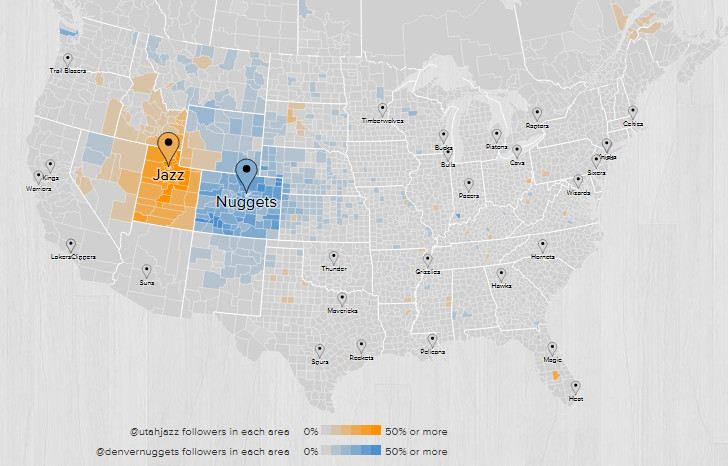 2015 2016 Fanbase Map Denver Utah
