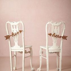 """<strong>BHLDN Sightline <a href="""" http://www.bhldn.com/shop-decor-decorations/sightline-chair-signs/productoptionids/a8336f9b-8f9d-4022-927a-ca9584cf2655"""">Chair Signs</a> - $68.</strong> You don't have to forgo the decor just because you're getting marrie"""