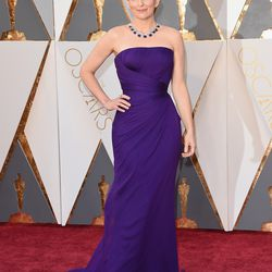 And Tina is, too! She's presenting in a purple Versace gown. Photo: Jason Merritt/Getty Images