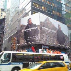 """January: Weatherproof's <a href=""""http://ny.racked.com/archives/2010/01/07/weatherproof_borrows_barack_obamas_image_for_a_times_square_ad.php"""" rel=""""nofollow"""">unauthorized</a> Obama ad."""