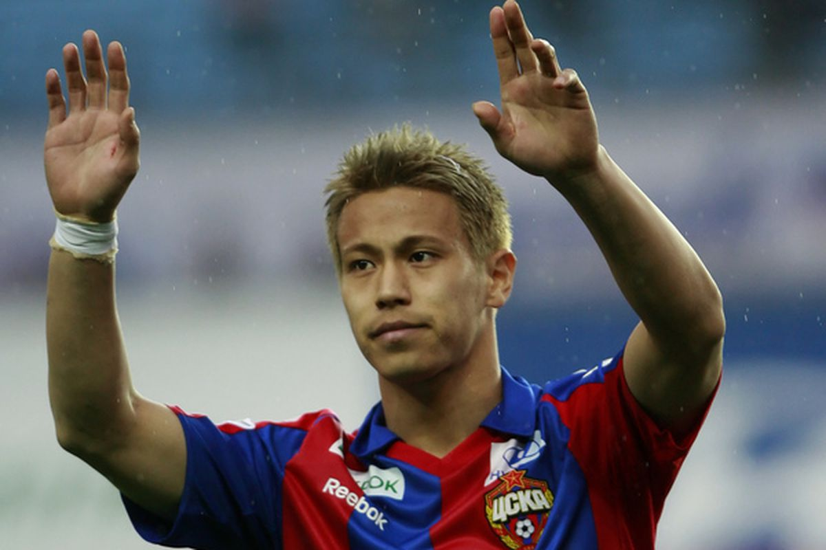 Keisuke Honda will wear a different set of stripes now or in January