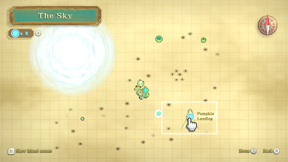 A Heart Piece location in The Legend of Zelda: Skyward Sword