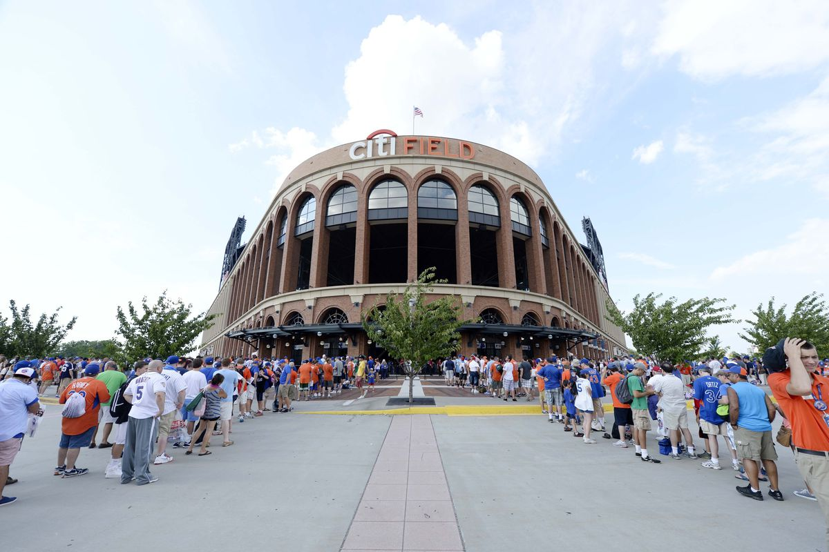 Citi Field, arrayed in her bloated, operatic splendor. Let's go to the Met!