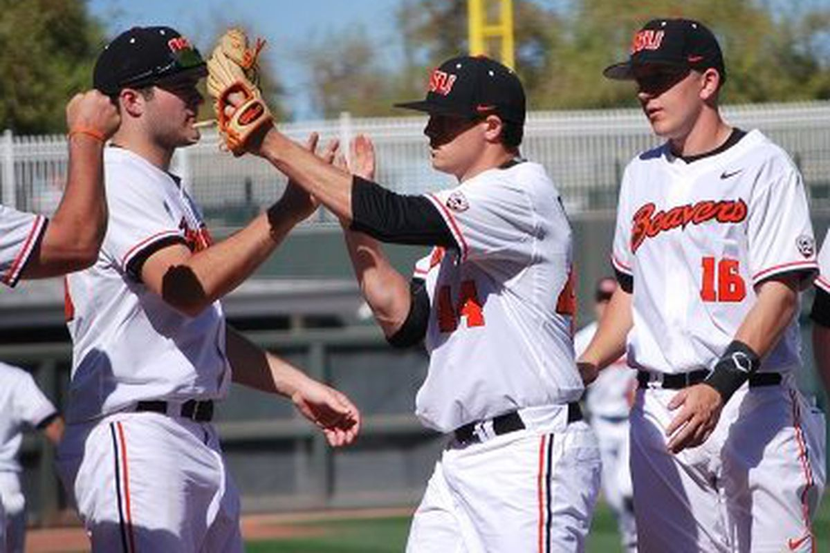 Oregon State had a good weekend, and edged upward in the rankings as a result.