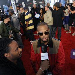 B.o.B attends the red carpet at the BET Hip-Hop Honors at Boisfeuillet Jones Atlanta Civic Center on Saturday, Sept. 29, 2012, in Atlanta.