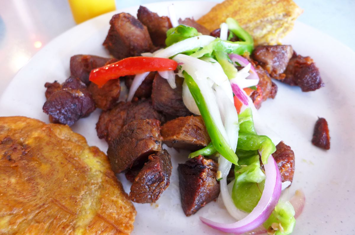 Haitian pork griot