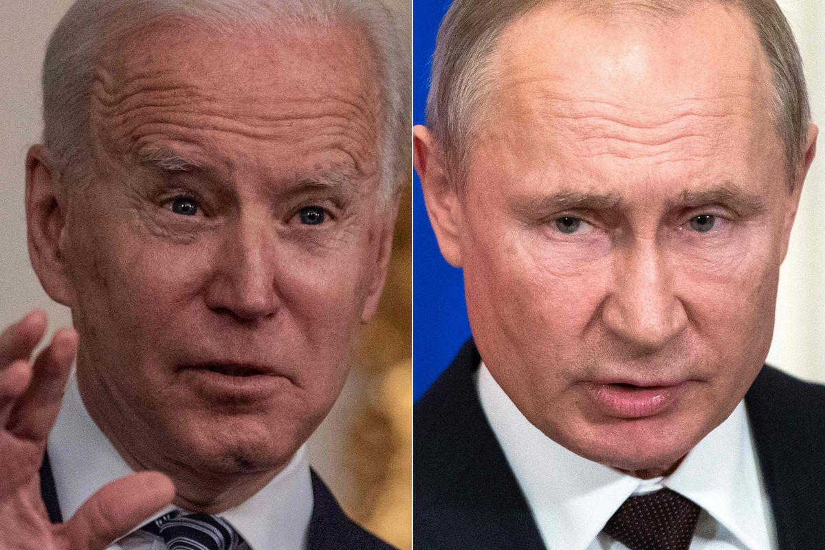 US President Joe Biden (L)  and Russian President Vladimir Putin
