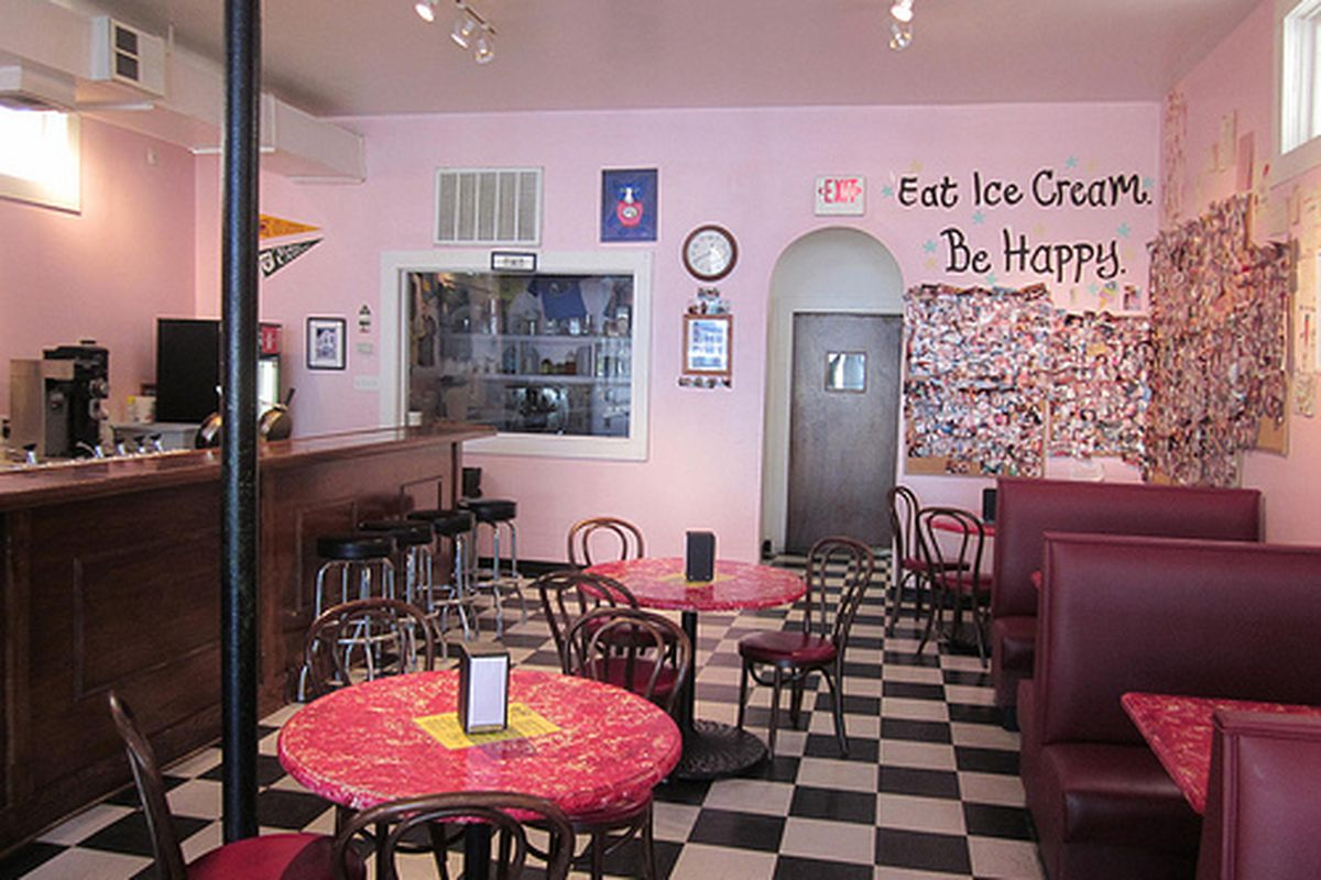 Inside Creole Creamery.