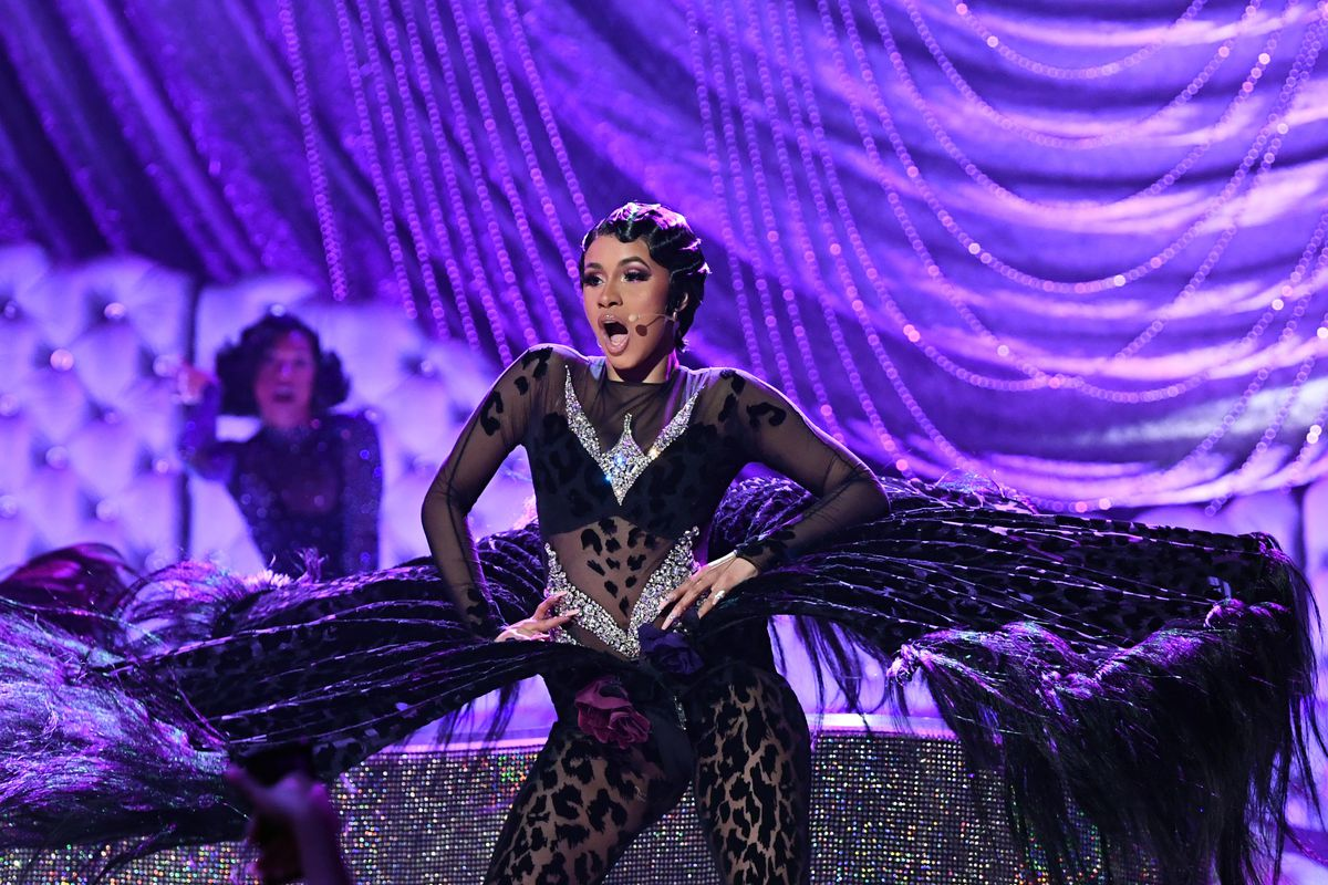 279e7a40fbf8 Cardi B performing at the 2019 Grammys. Emma McIntyre Getty Images for the  Recording Academy