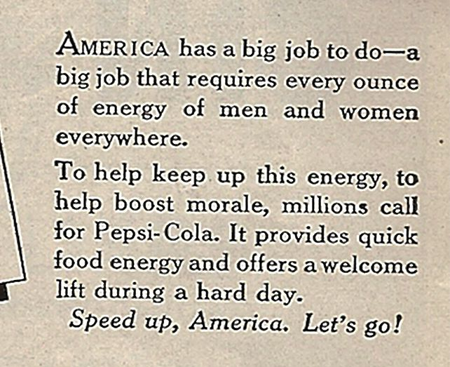 A big job requires lots of soda.