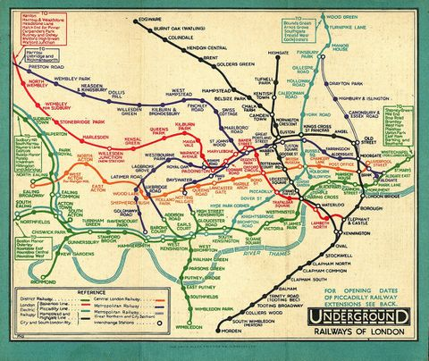 Subway Map View Presentation.Meet Harry Beck The Genius Behind London S Iconic Subway Map The