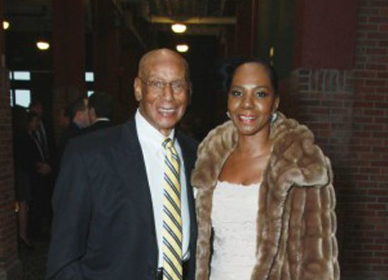 <small><strong>Ernie Banks and Regina Rice. | Sun-Times Media Library</strong></small>