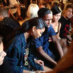 """""""So excited to see @asvpxrocky and @chaneliman here for @ITSJEREMYSCOTT"""" - Milk Studios/<a href=""""https://twitter.com/MilkStudios/status/377878025704333314/photo/1"""">Twitter</a>"""
