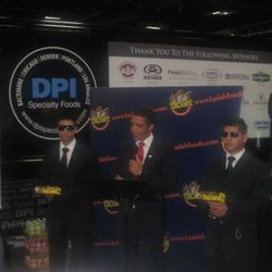 The most elaborate stunt: TaDah foods hired an Obama impersonator to give a speech (sans teleprompter, noted) flanked by obviously not actual Secret Service agents.