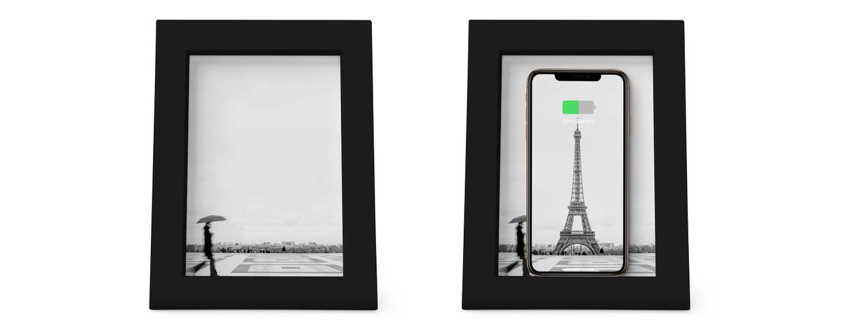 Twelve Souths Powerpic Hides A Wireless Charger In A Wooden Picture