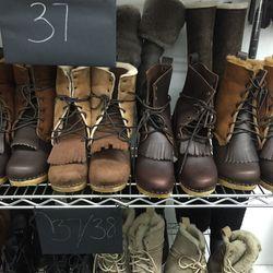Shearling clog boots, $275