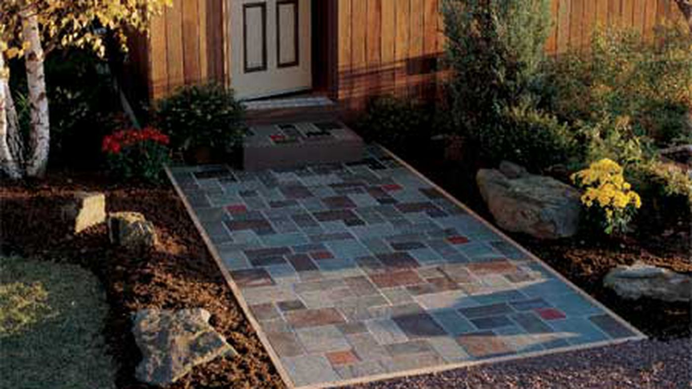 Build a Slate Patio   This Old House