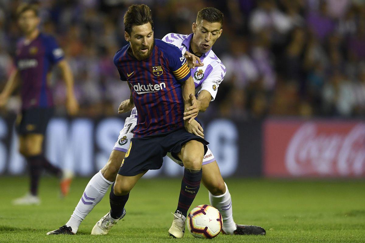 Resultado de imagen para fc barcelona vs real valladolid