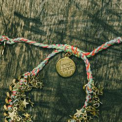 """'Supernova' bracelet, $125; """"My favorite pieces are the friendship bracelets. These are like, my youth and my identity and growing up and making friendship bracelets."""""""