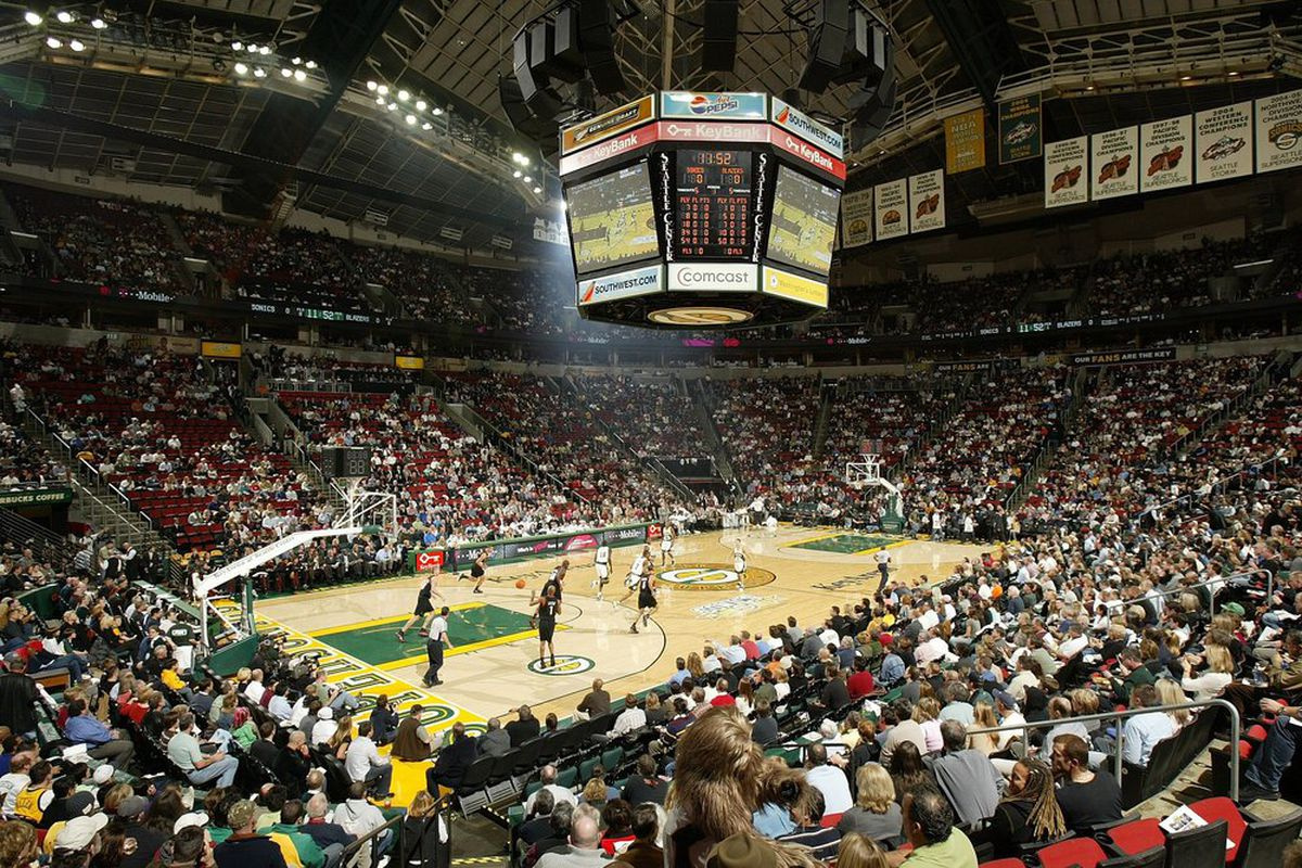 SEATTLE - NOVEMBER 01: Play begins between the Seattle SuperSonics and the Portland Trail Blazers on November 1, 2006 at Key Arena in Seattle, Washington.  (Photo by Otto Greule/Getty Images)