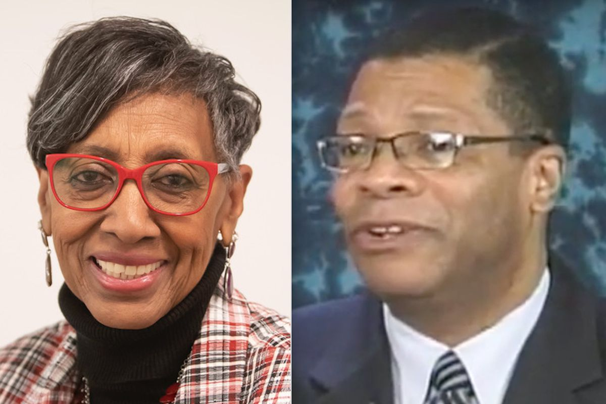 Ald. Carrie Austin (left) and Illinois Appellate Court Judge Nathaniel Howse Jr.