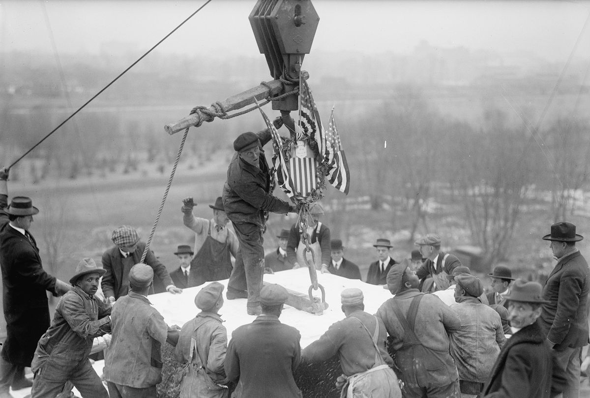 Placing the Lincoln Memorial Cornerstone