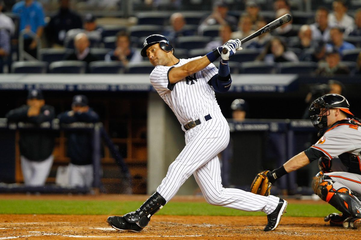 Jeter hit .389/.433/.579 in April, and started May with a 3-for-5 night.
