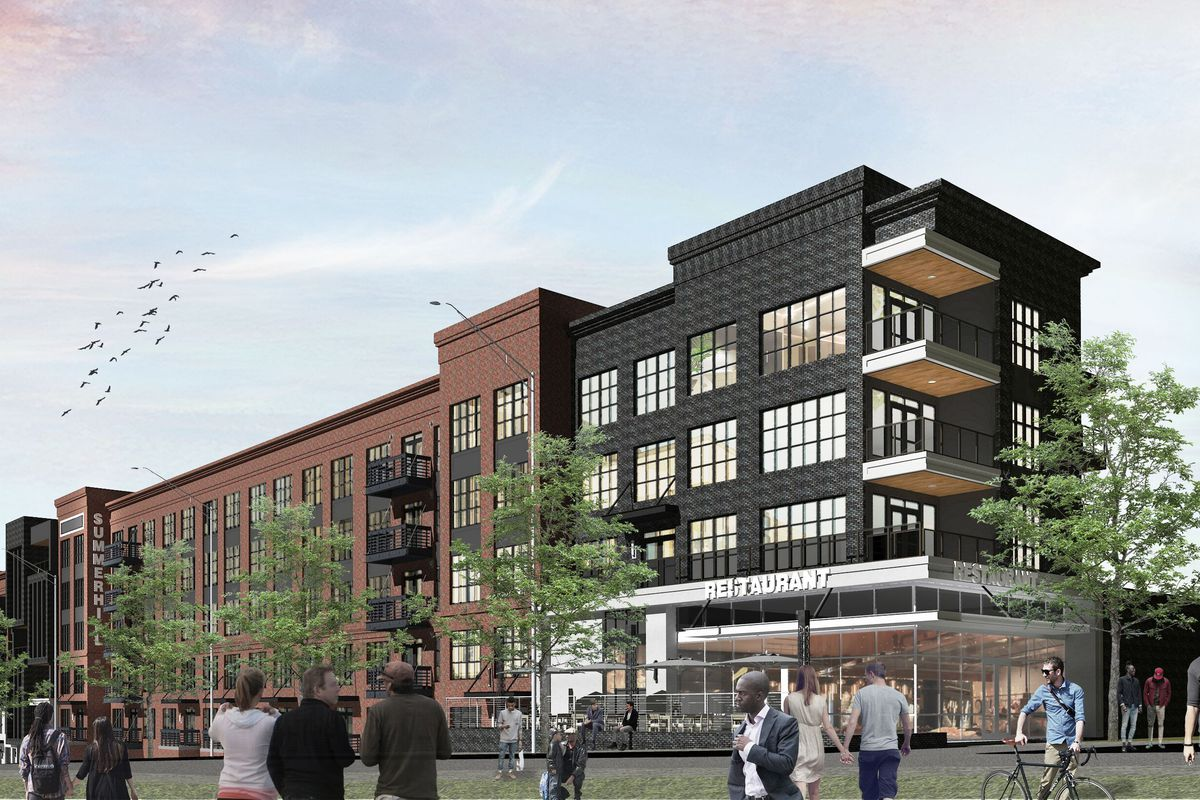 a rendering of the upcoming apartments
