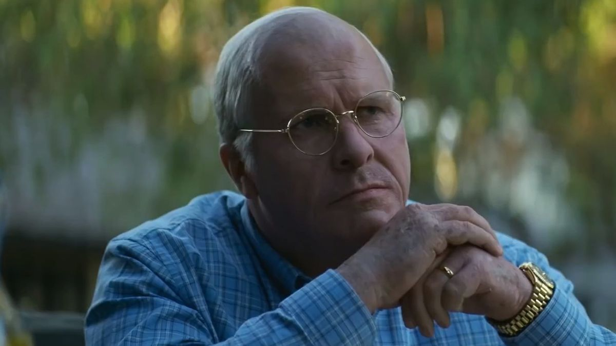 Christian Bale plays Dick Cheney in Vice.