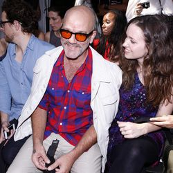 R.E.M. lead singer Michael Stipe arrives for the Edun Spring 2013 collection show during Fashion Week, Saturday, Sept. 8, 2012, in New York.