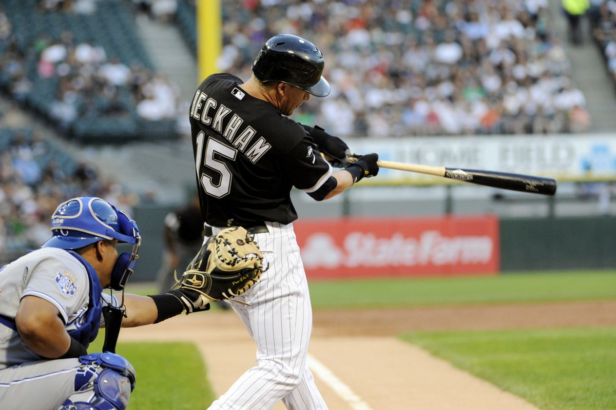 Gordon Beckham started the game with his 11th homer.