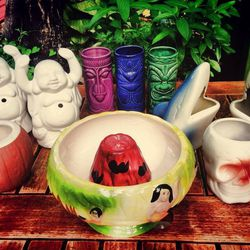 """East Side Showroom's impressive spread of mugs and a """"volcano bowl"""" [Photo: <a href=""""https://www.facebook.com/eastsideshowroom/photos/pb.362489480214.-2207520000.1403727371./10154317330230215/?type=3&theater"""">ESSR/Facebook</a>]"""