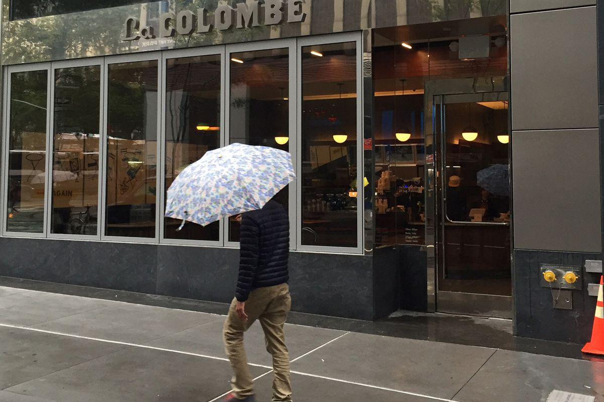 A rainy street in Midtown