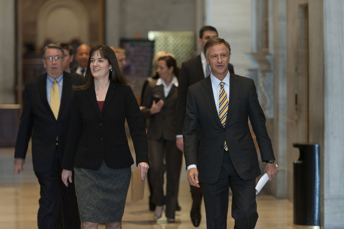 Tennessee Education Commissioner Candice McQueen and Gov. Bill Haslam have been navigating choppy waters over standardized testing in Tennessee.