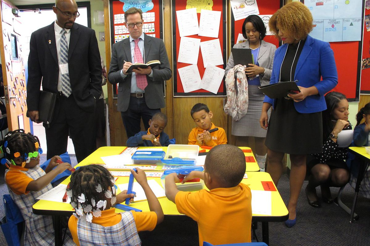 School leaders from charter and district schools visited Success Academy Harlem 5.