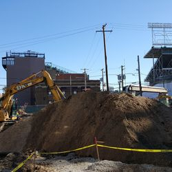 11:12 a.m. Dirt pile in the broadcast lot -