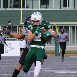 Mathew Sexton catches for an 80 yard touchdown pass.
