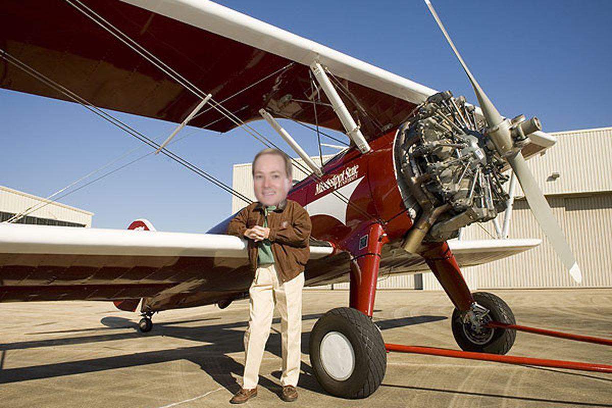 MSU President Mark Keenum is ready to start flying planes over Davis Wade Stadium