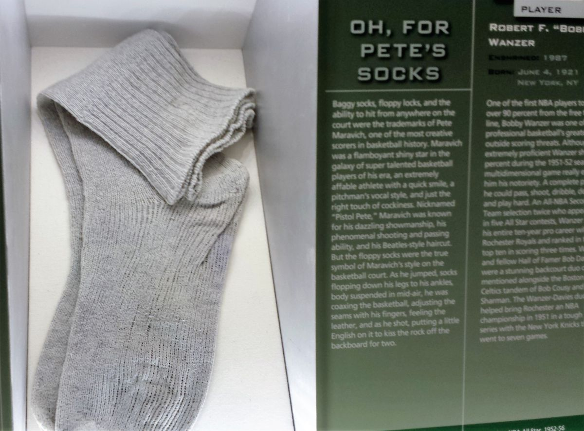 loosely woven grey socks