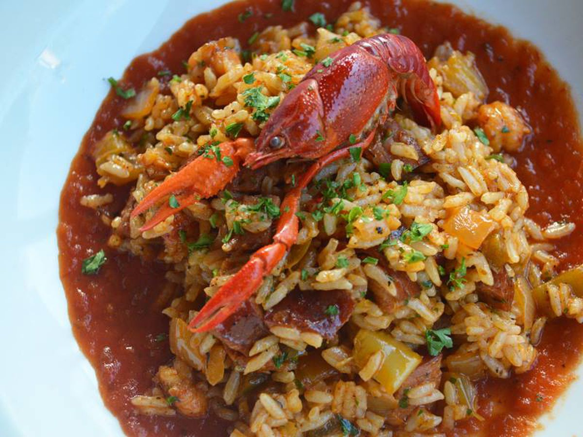 Crawfish Jambalaya At Acadiana Facebook